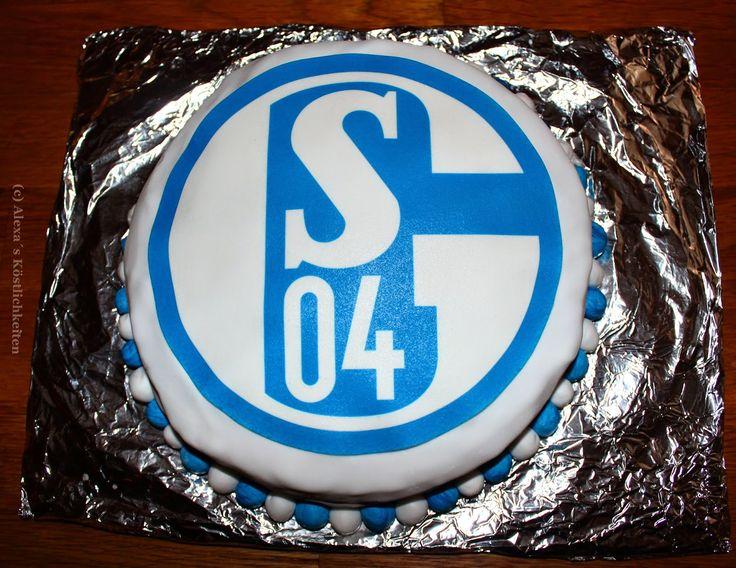 Alexa´s Köstlichkeiten: Geburtstagsgeschenk - Schalke 04 Torte