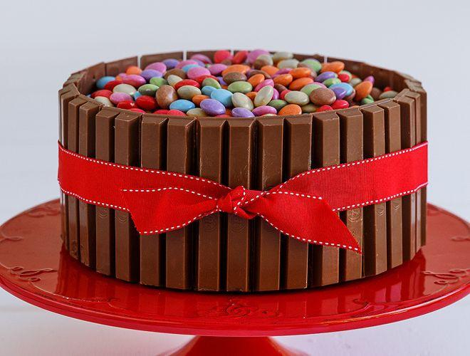 Τούρτα με σοκολάτα και καραμέλες