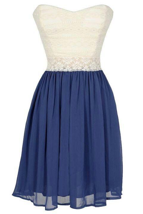 Very pretty white and blue dress