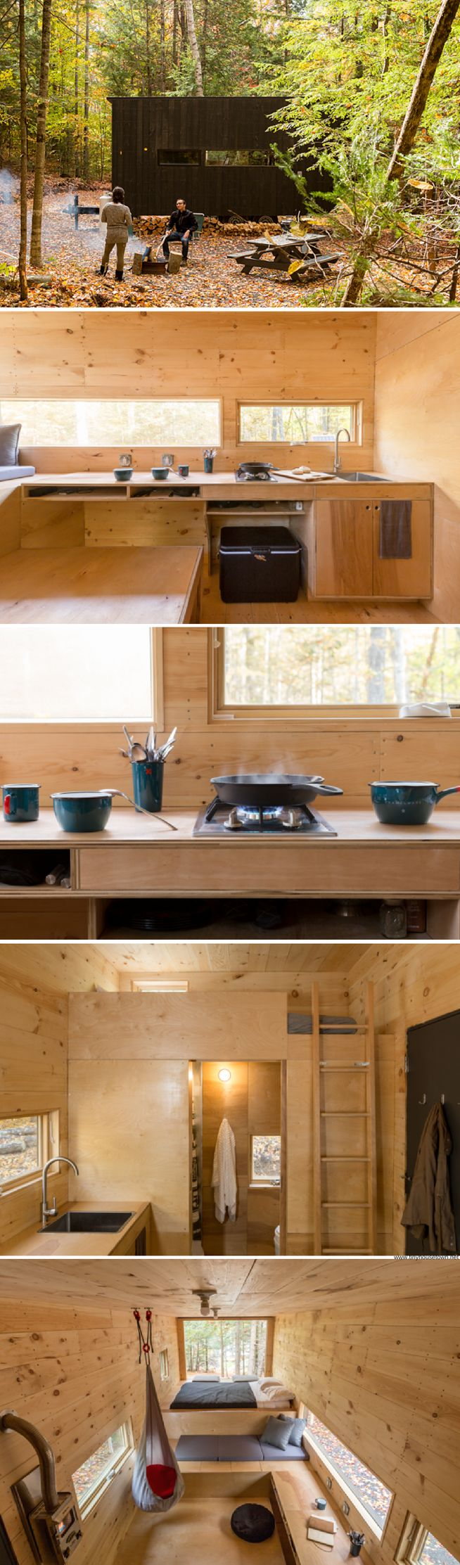 Clara: 160 sq ft tiny house retreat you can rent in a secluded spot just outside of Boston
