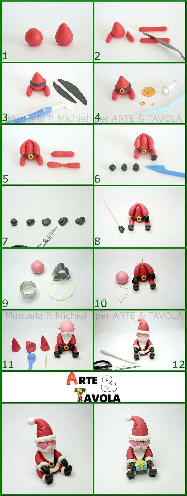 Christmas cake Santa's tutorial by Manuela P. Michieli