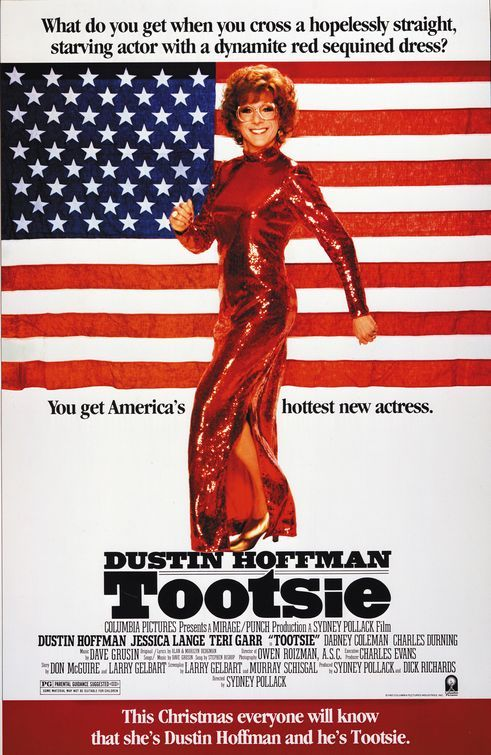 TOOTSIE (1982): An unemployed actor with a reputation for being difficult disguises himself as a woman to get a role in a soap opera.