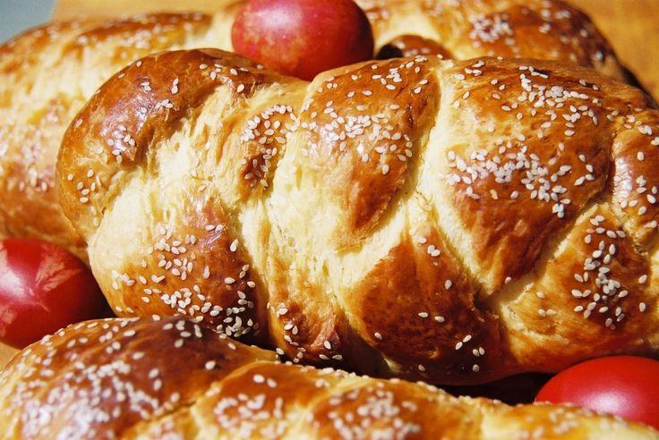 A Traditional Sweet Easter Bread Recipe called Tsoureki (Tsou-REH-kee).