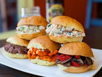 Mouthwatering Sliders From Straw Restaurant A San Francisco Rehearsal Dinner Venue And Wedding Caterer