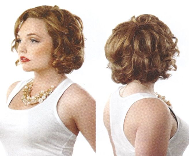 Curly Wedge Hairstyle Cropped Curled Jaw Length Bob
