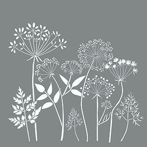 18″ x 18″, Americana Decor Stencils, Wildflowers, Reusable Stencil