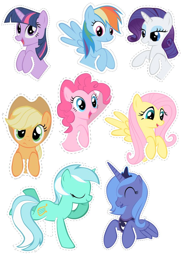 Pocket Pony Cutouts by OceanBreezeBrony.deviantart.com on @deviantART