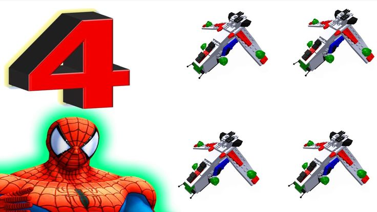 Learn Numbers Toy Lego Spaceship with Spiderman superhero rocket video for Kids and Children