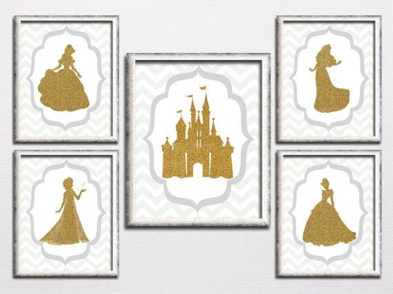 Nursery printable Disney princess inspired by HappyPrintCreations