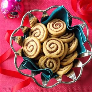 Date-Nut Pinwheels. We will see how similar this is to my grandmas recipe, im the only one who likes these cookies and dont know why!!
