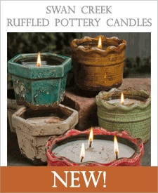 Add some chic to your home with these ruffled pottery candles!