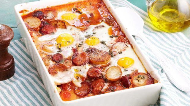 Spanish baked eggs for $8.40 recipe - 9kitchen