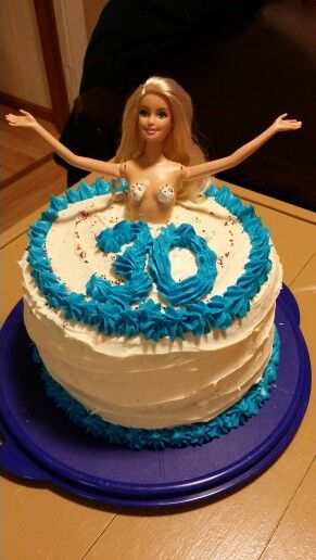Stripper barbie birthday cake
