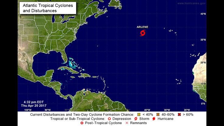 #EARLY: #Tropical #Storm Arlene forms in Atlantic...