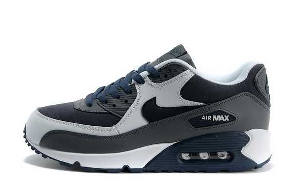 1767 Nike Air Max 90 Herr Mork Navy Gra Vit Se824842hdsme Nike Air Max 90 Mens