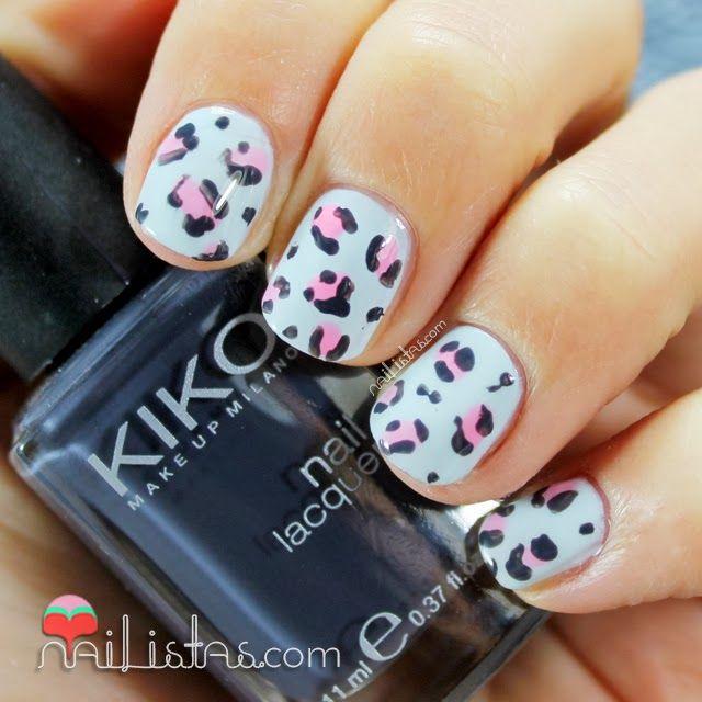Animal Print Nails | Baby Leopard |  Nailistas: Uñas decoradas con leopardo baby | Nail art infantil