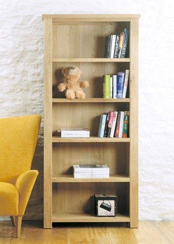aston oak large open bookcase cvr01a