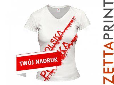 POLSKA Tshirt Koszulka Narodowa Damska ZTT_DS0099