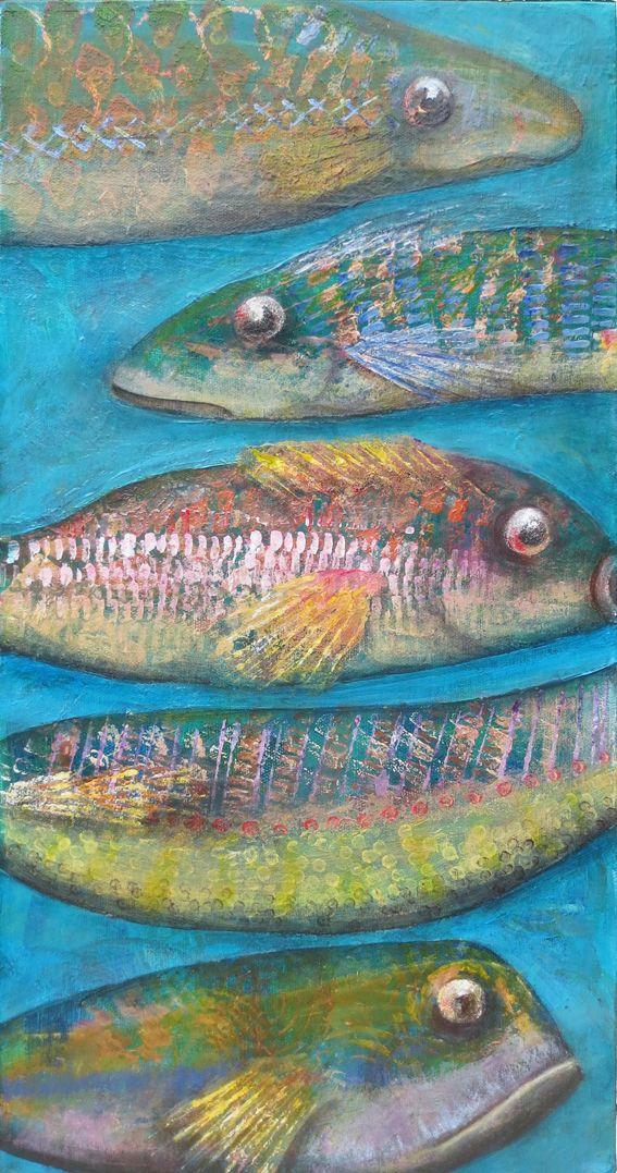 5 Fish. Acrylic. Shirley Dougan