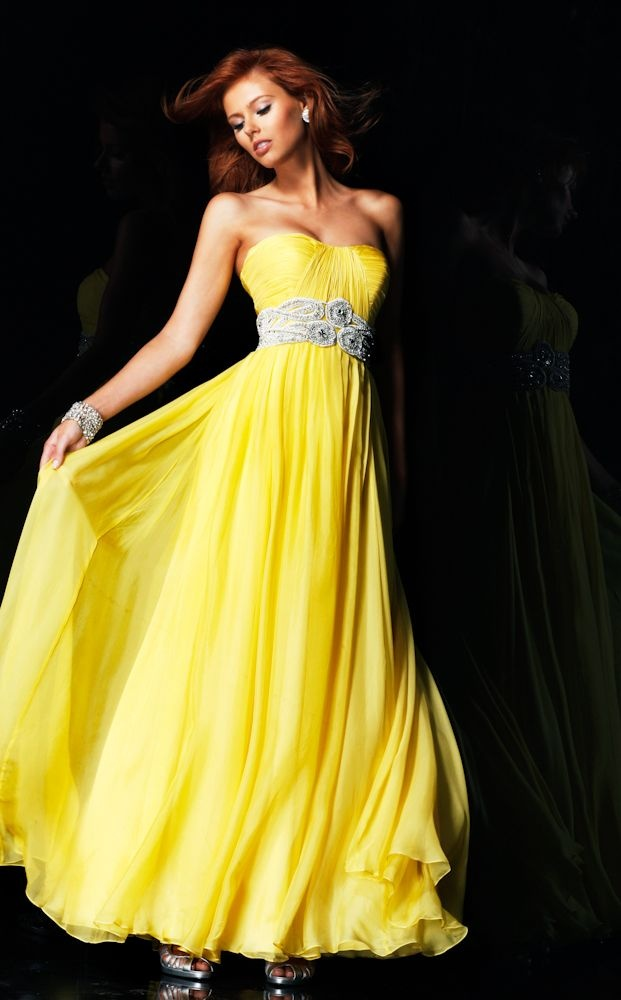 картинки желтое вечернее платье
