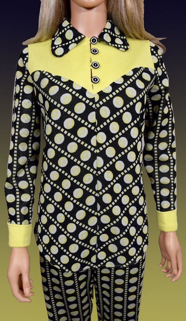 letter of resignation maternity leave%0A Women u    s TwoPiece      u    s or early      u    s MOD Polka Dot Op Art Bell Bottom  Pant Suit  Made in black  yellow and somewhat white under the L u    K   Love  u      Kisses