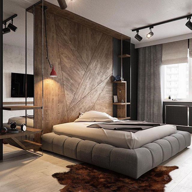 Industrial Bedroom Cool Mood Wood Lighting System Light