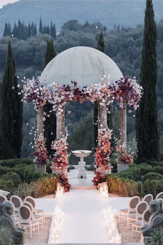 30 Timeless Wedding Altar Decoration Ideas ❤ We've rounded up some of the most original wedding altar decoration ideas in different styles. See our gallery for more inspiration! #wedding #decor #bridaldecorations #weddingdecorations #weddingceremony #weddingaltardecoration