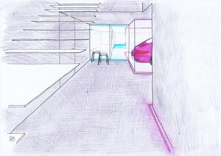 BFA | DF apartment #architecture #interior #design #contemporary #modern #mountains #colors #color #collage #pencils #watercolors #pantone
