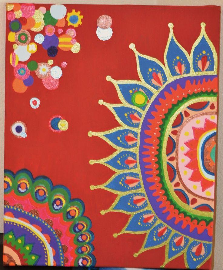 bohemian artwork | Bohemian Abstract Art. $30.00, via Etsy.