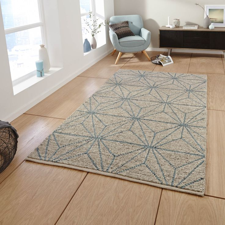 Think Rugs Alpha Rug Blue And Beige From Cult Furniture Uk