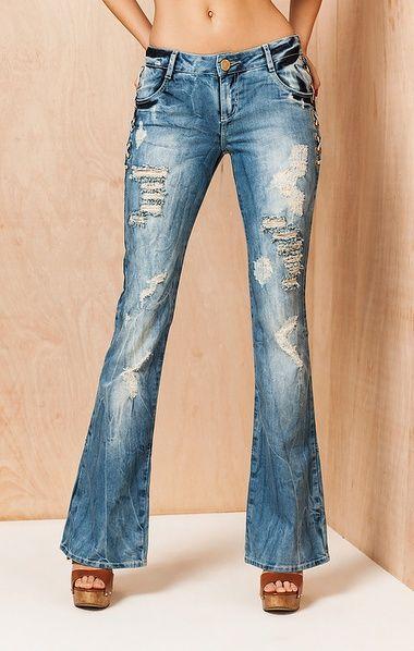 Calça Jeans Carol Cós Baixo Jeans 34