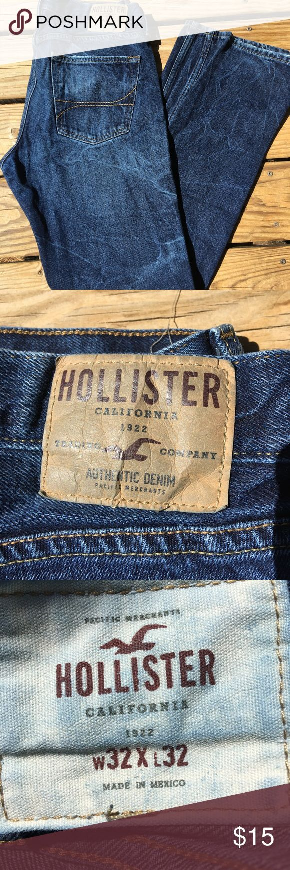 Men's Hollister bootcut jeans Men's dark bootcut jeans 32w 32L used but in great condition!! Hollister Jeans Bootcut