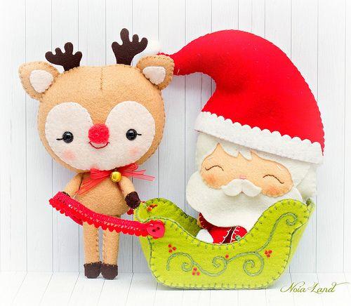 Papá Noel y Rudoph el reno