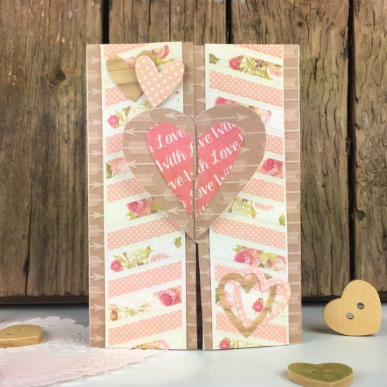 Use our free printable template to make this sweet gate fold card.