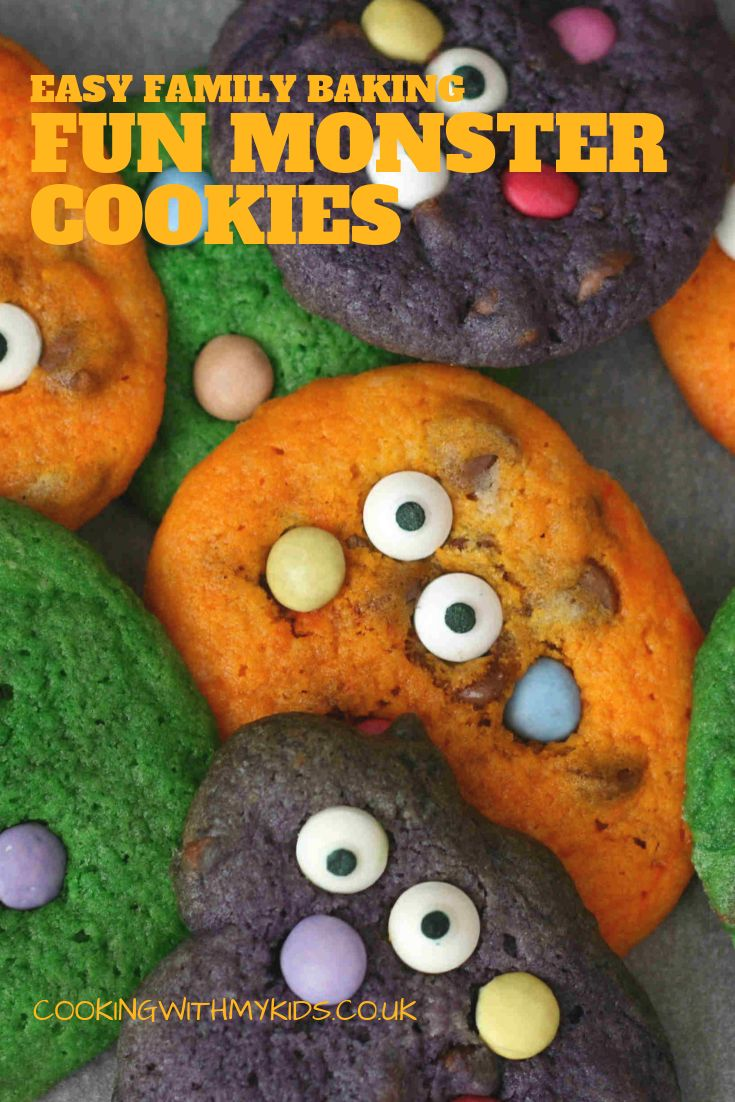 Halloween monster cookies | Recipe | Baking with kids, Kid ...