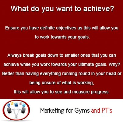 What do you want to achieve?