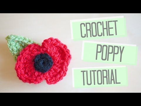 (crochet) How To - Crochet a Poppy - YouTube