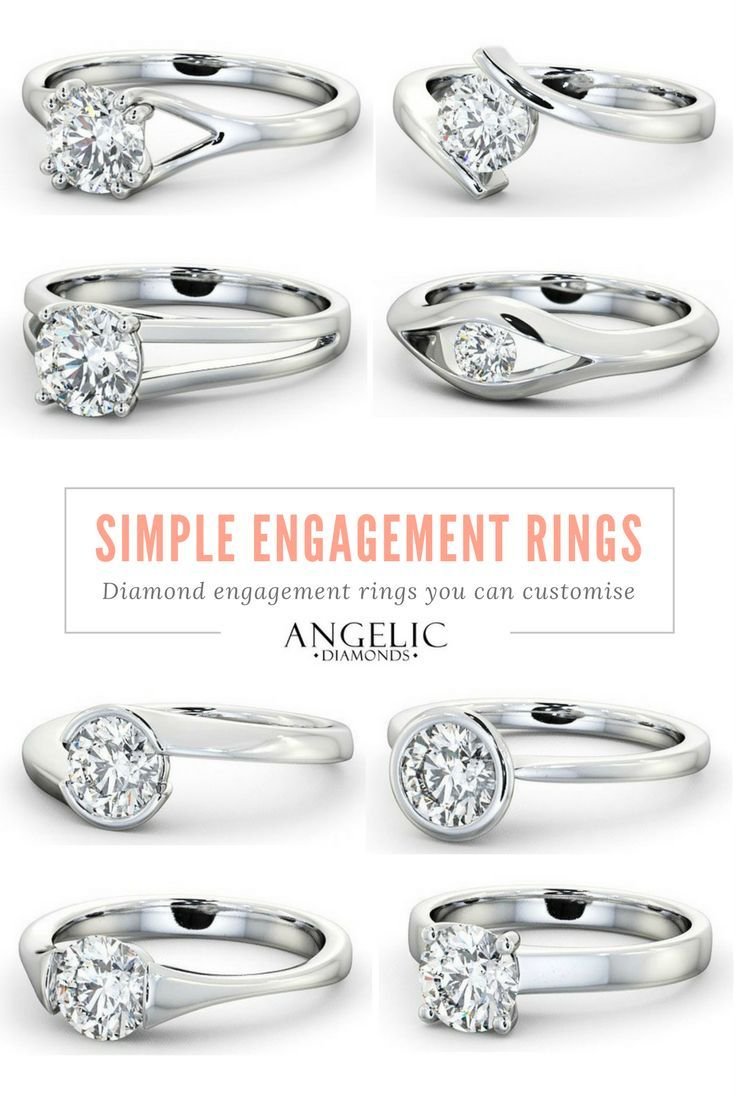 Simple engagement rings with a free design service for your personal customisations from #AngelicDiamonds. Find your perfect diamond engagement ring today. #Wedding #Engagement #Engaged #Diamond #Diamonds #Ring #Jewellery #Jewelry #DiamondRing #DiamondJewellery #DiamondJewelry #EngagementRing #GoldRing #GoldJewellery