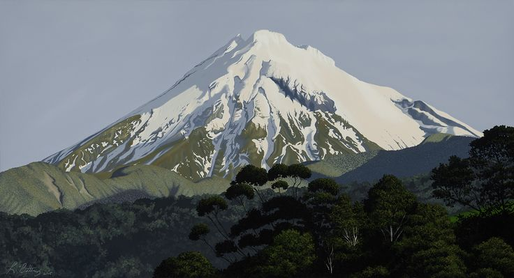 Mt Taranaki from Oakura Size: 120cm x 65cm Price: $1800. Feel free to message me on my Facebook page: Kevin Betteridge Art