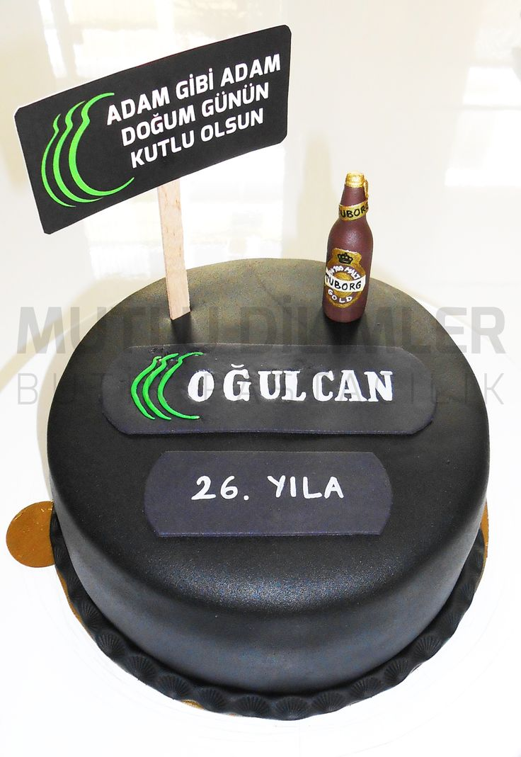 TUBORG PASTASI BİRA PASTASI TUBORG CAKE BEER CAKE ADULT BİRTHDAY CAKE BLACK CAKE  https://www.facebook.com/mutludilimlerpastacilik