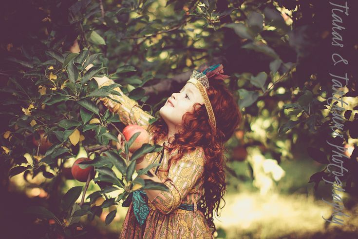Gorgeous little model at the Apple Orchard photography shoot / workshop