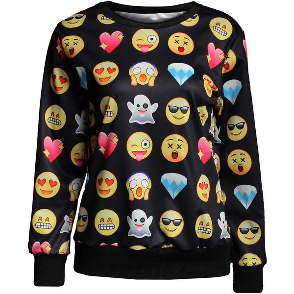 Sweatshirts Hoodies Femmes Pull Emoji Impression Sweatshirt ($19) ❤ liked on Polyvore featuring tops, hoodies, sweatshirts, hooded pullover, hooded pullover sweatshirt, petite hoodies, petite tops and petite hoodie