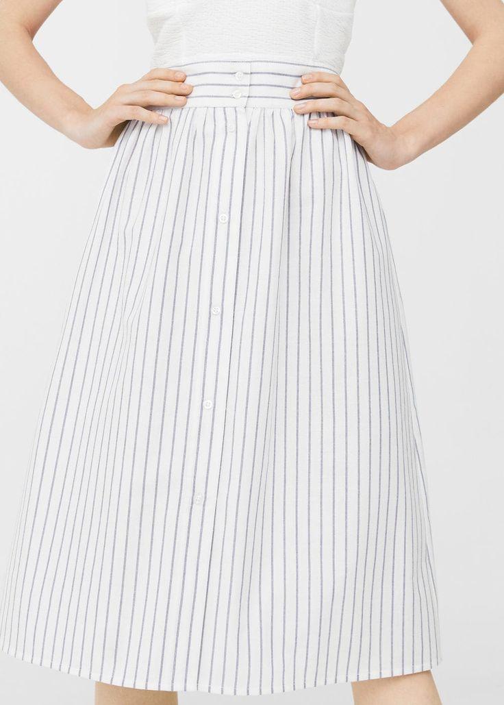 Striped midi skirt | MANGO