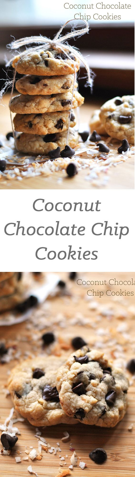 These coconut chocolate chip cookies are a delicious twist on the traditional chocolate chip cookie. An irresistibly easy cookie recipe you will love.