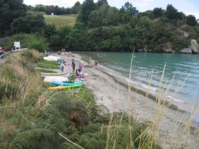 Stephens Bay, Kaiteriteri - is there room for a marquee on the reserve here perhaps?