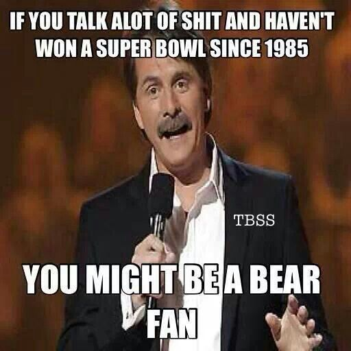 packers vs bears meme | Green Bay Packers Bahahahahahaa!!!! LOVE JEFF!! :) He's great!