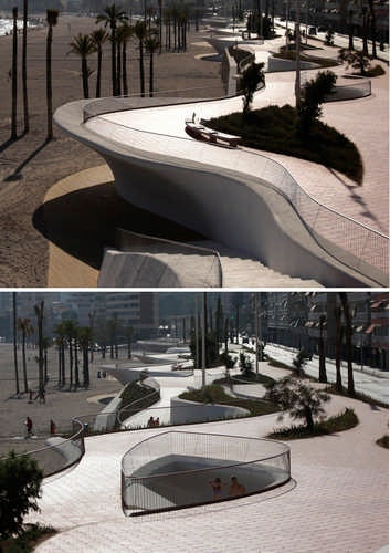 Beaches architecture and barcelona on pinterest for Oxigen landscape