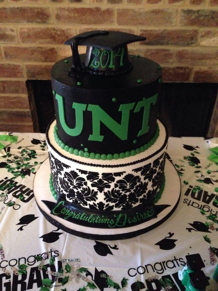 UNT graduation cake