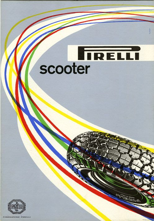 Max Huber, advertisement for Pirelli motor-scooter tyres, 1953 http://www.fondazionepirelli.org