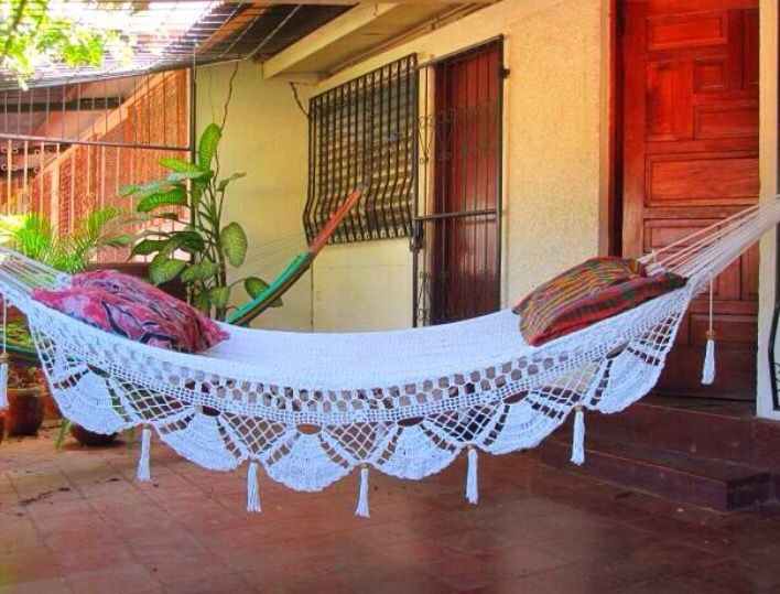 There is no better place to take a nice break than a hammock. It is the perfect spot to lay down and relax, read, or even just to take a nap.